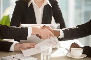 professionals shaking hands