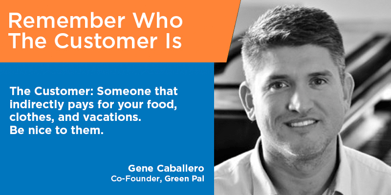 Gene Caballero customer service quotes tips from the pros