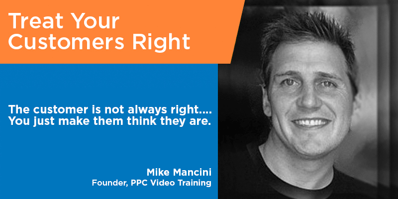 Mike Mancini customer service quotes tips from the pros