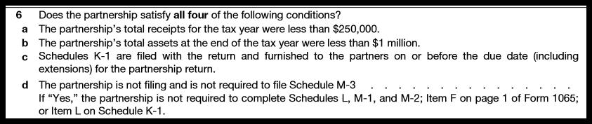 Form 1065 Schedule B