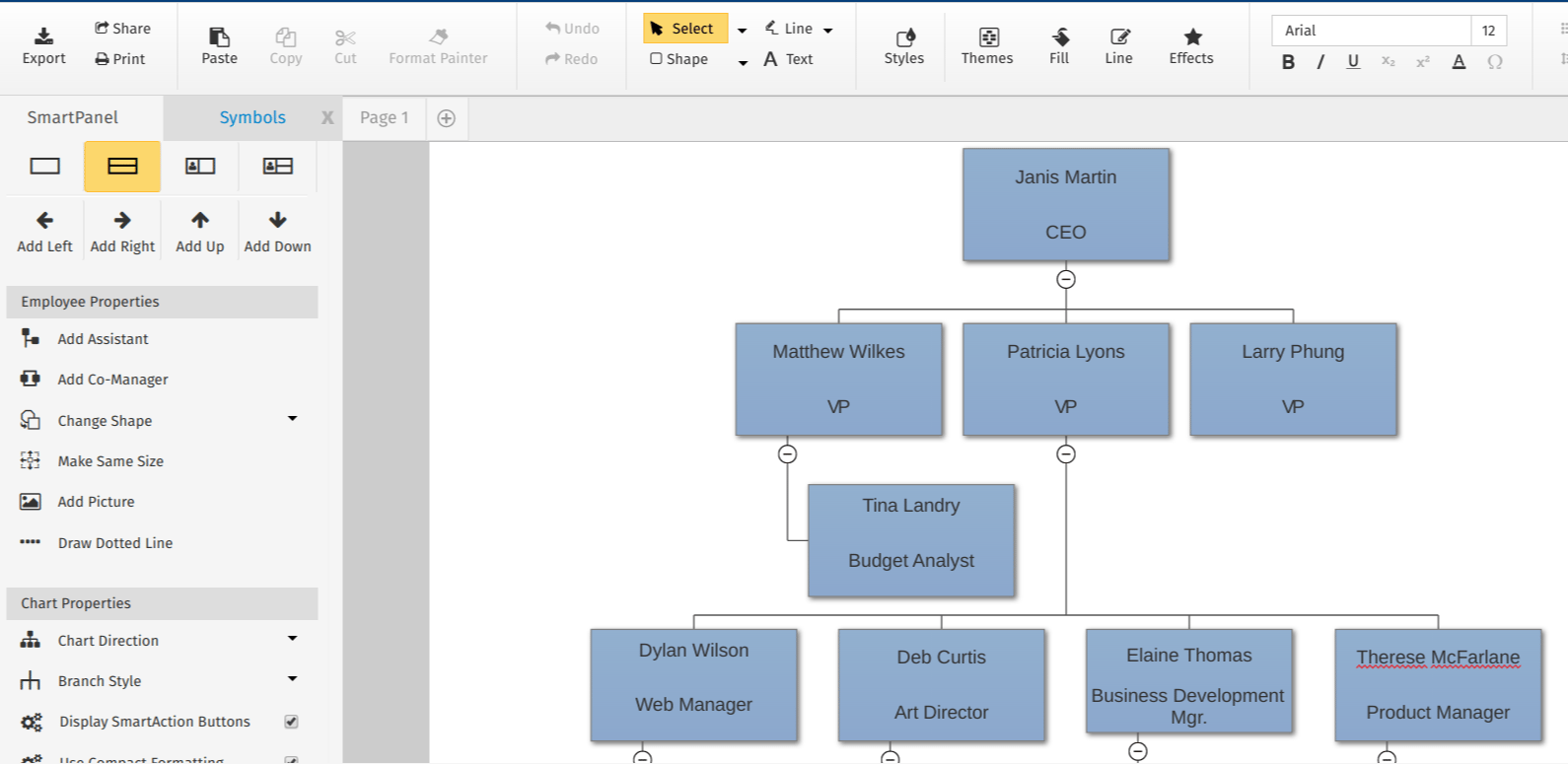 Best diagram software Smart Draw Org Chart