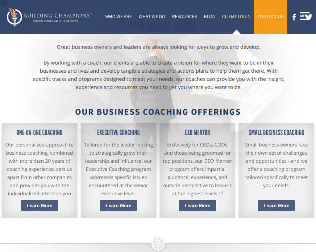 Building Champions Business Coaching Services