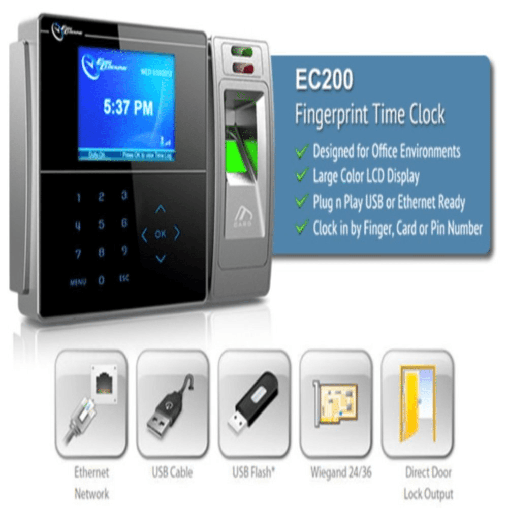 Digital time clock - biometric fingerprint Time-logix - employee time clock