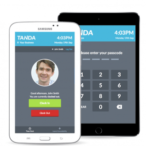 Digital employee time clock Tanda Mobile App