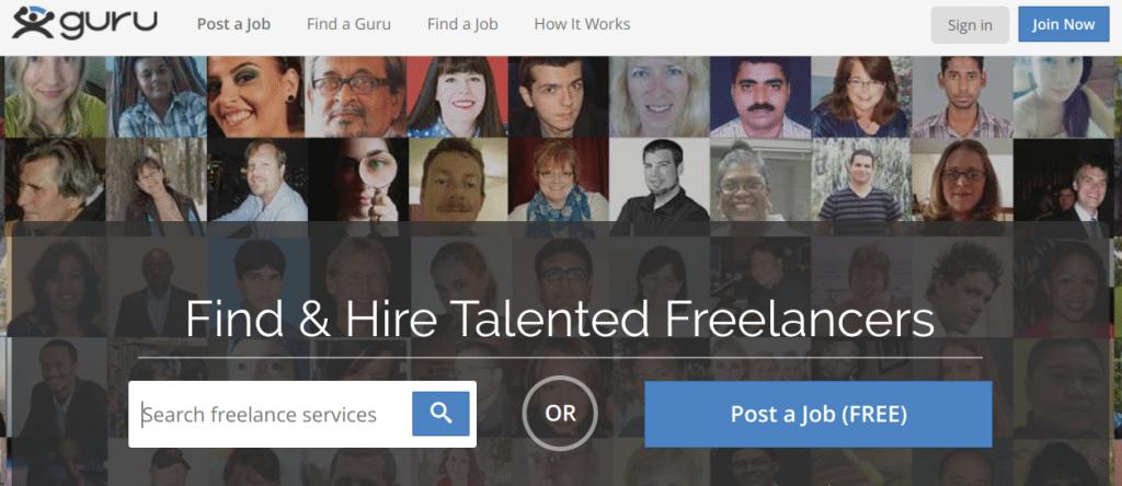 Best freelance websites Guru