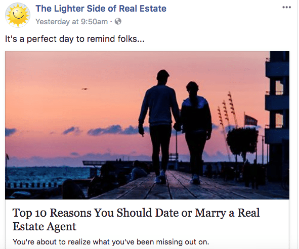 funny Facebook real estate post - Facebook for Realtors