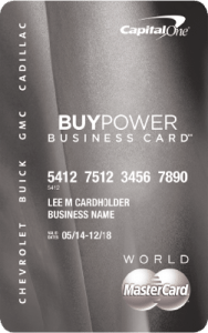CapitalOne GM BuyPower best small business credit card