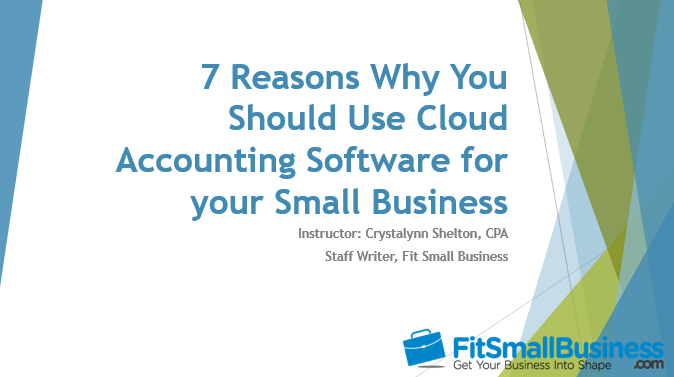 Cloud accounting software slide