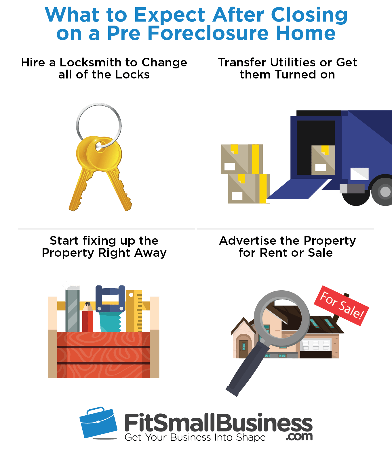 What to Expect After Closing - how to buy a pre foreclosure home