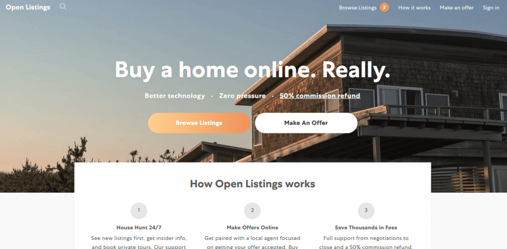 Open Listings website-Startup Websites-Tips from the pros