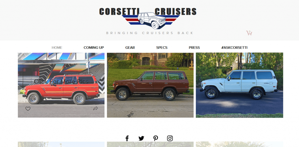 Corsetti Cruisers-Startup Websites-Tips from the pros