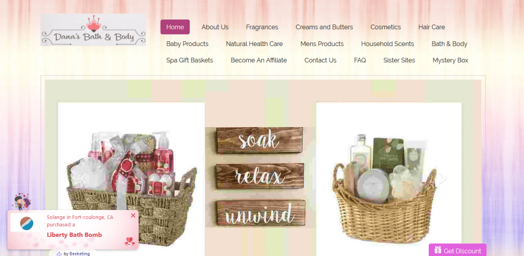Danas Bath and Body-Startup Websites-Tips from the pros