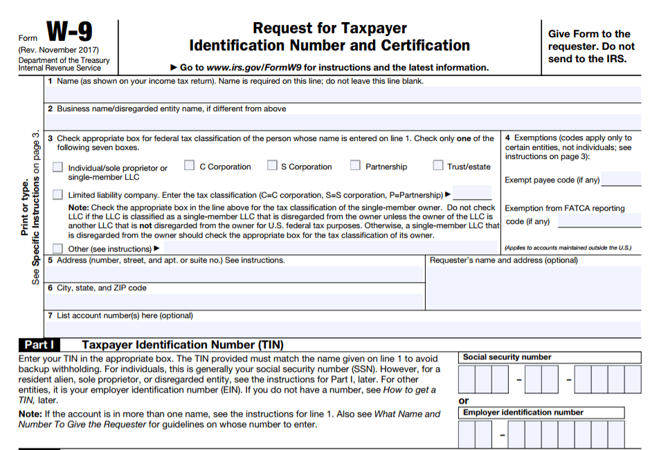 W9 Vs 1099 Irs Forms Differences When To Use Them