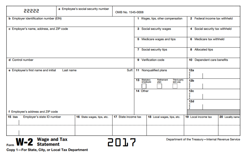 w2 vs w4 2017 IRS form w-2