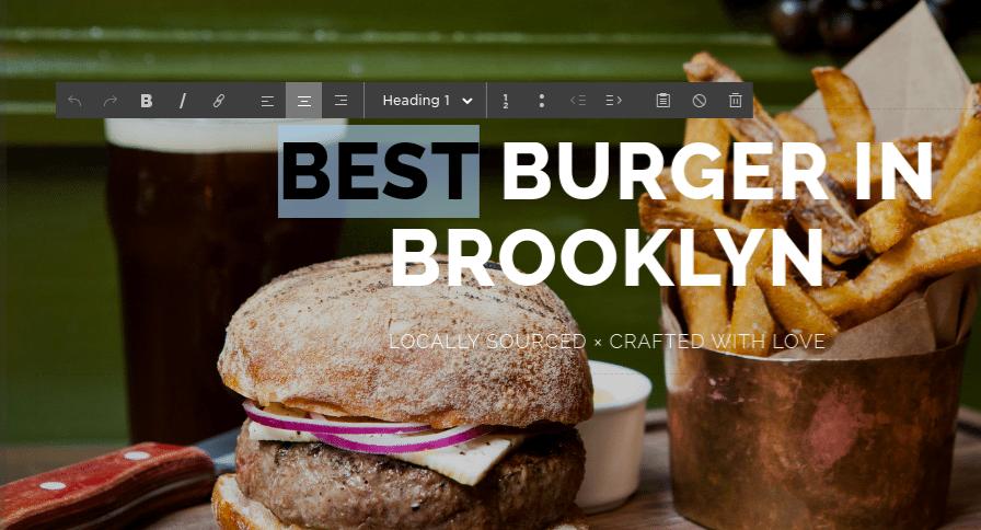 Burger in Brooklyn - Squarespace vs WordPress
