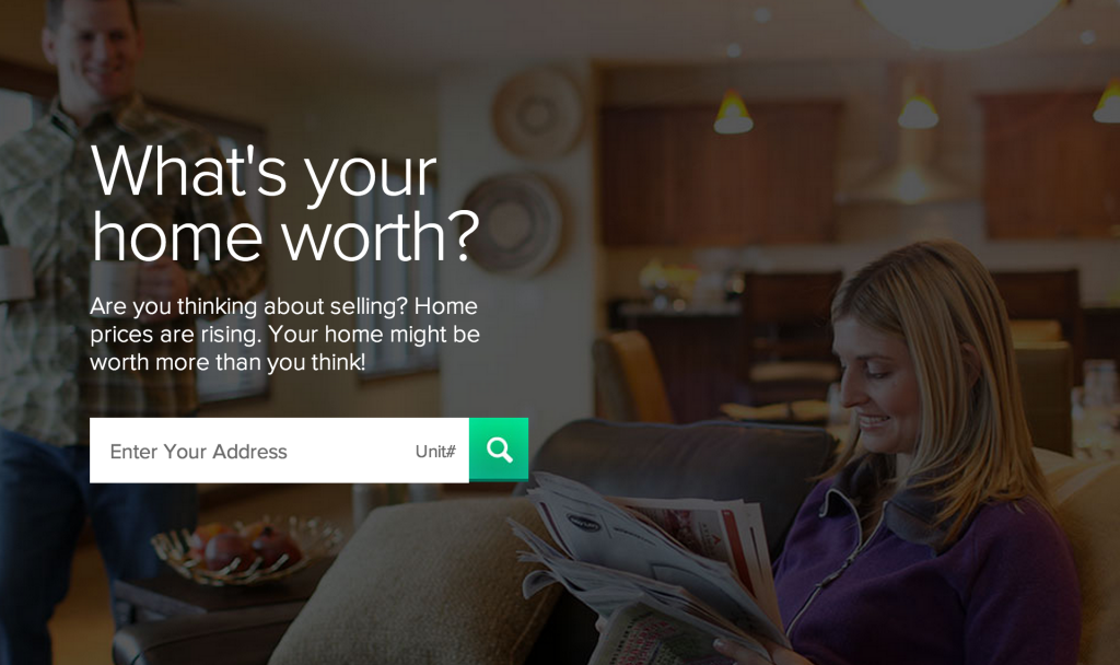 Screenshot of BoldLeads home evaluation landing page