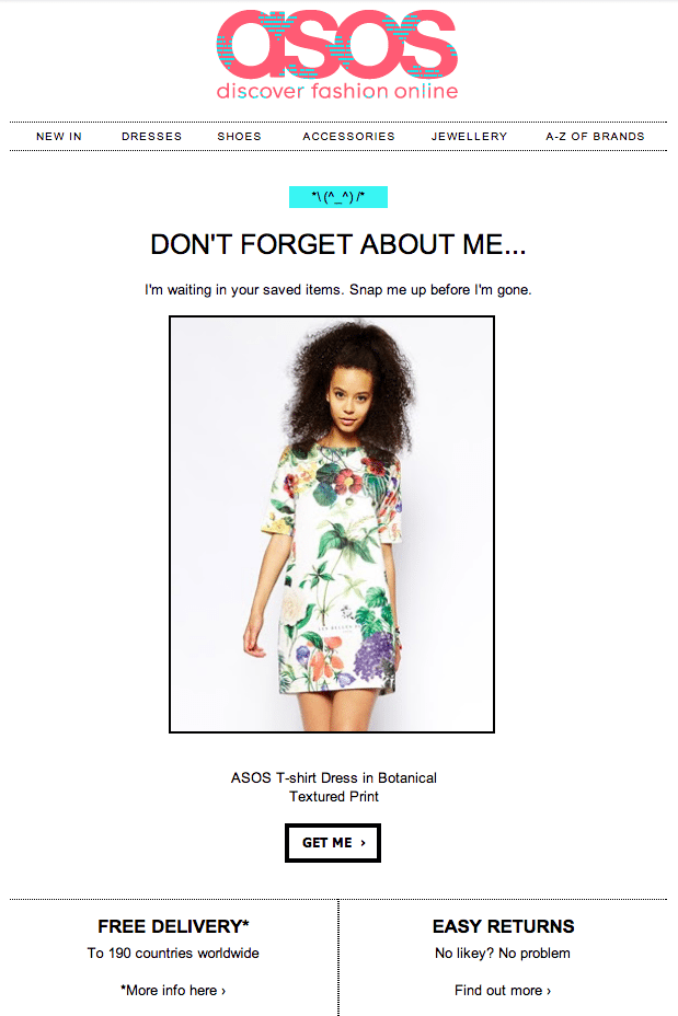Asos-Abandoned Cart Email-Tips from Pro