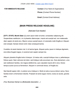 how to write a decent press release