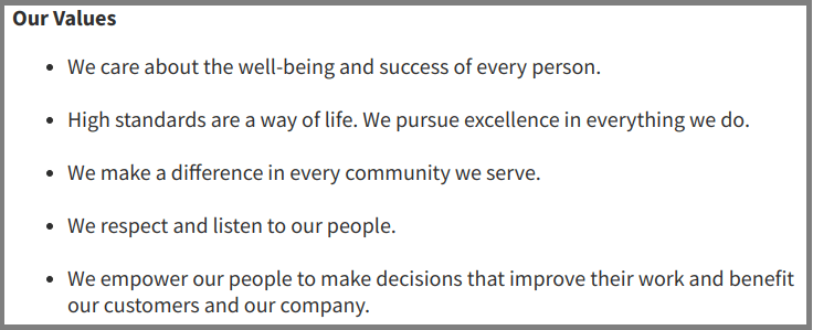 Wegman-Core Values-Tips from Pros