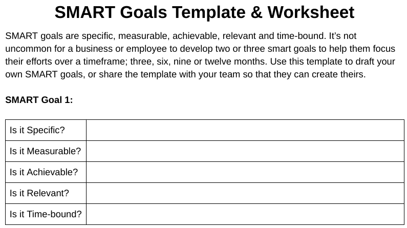 20 best smart goals examples for small businesses in 2018 template smart goals examples tips from pros wajeb Images