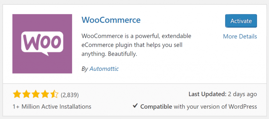 Setting up WooCommerce -- Step one processes