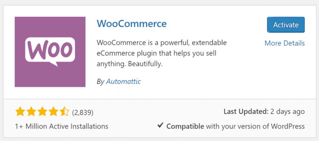 Setting up WooCommerce -- Step one processes