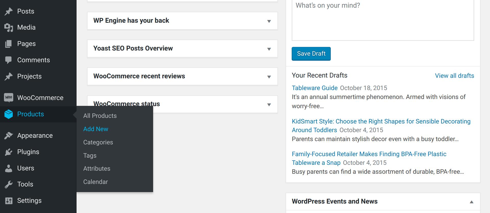 Setting up WooCommerce -- Step three processes