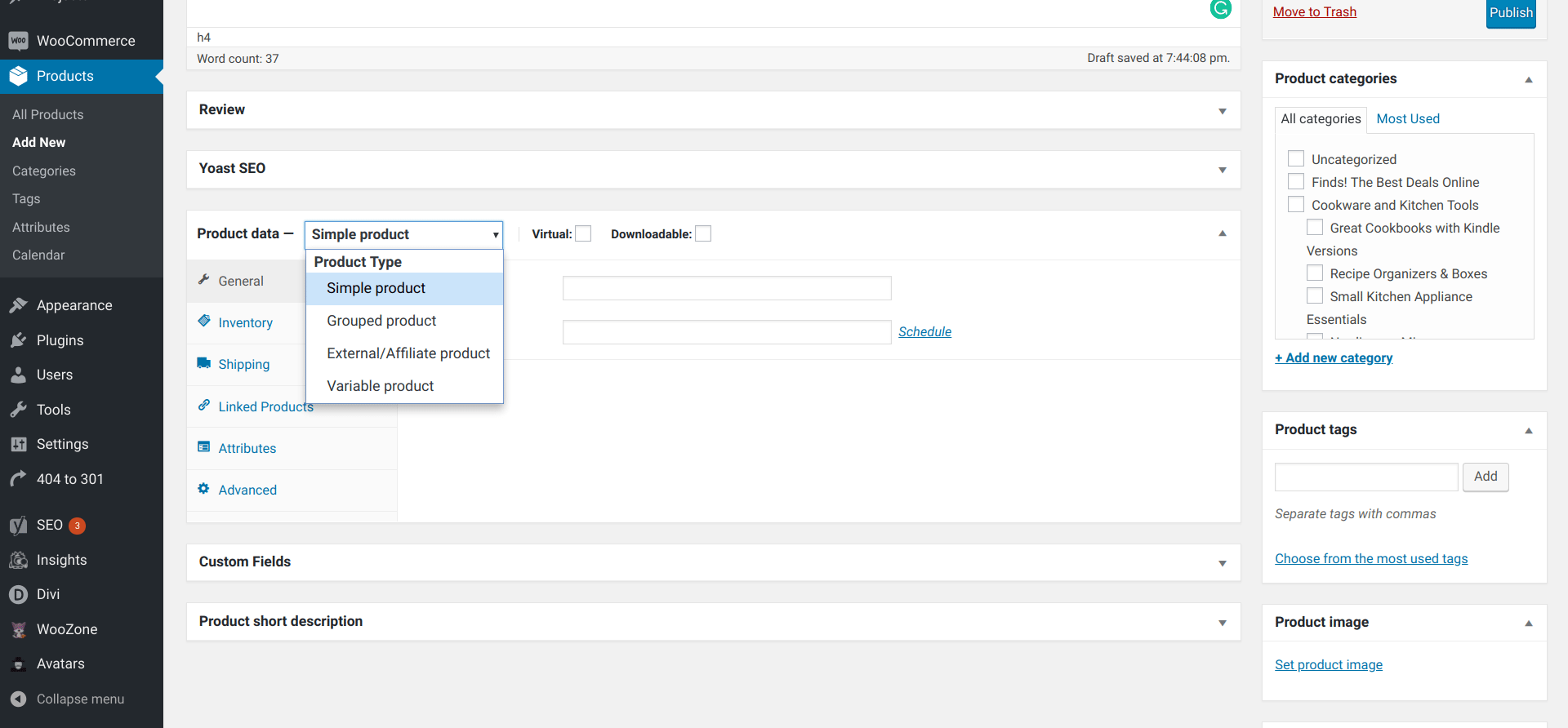 Setting up WooCommerce -- Step three processes