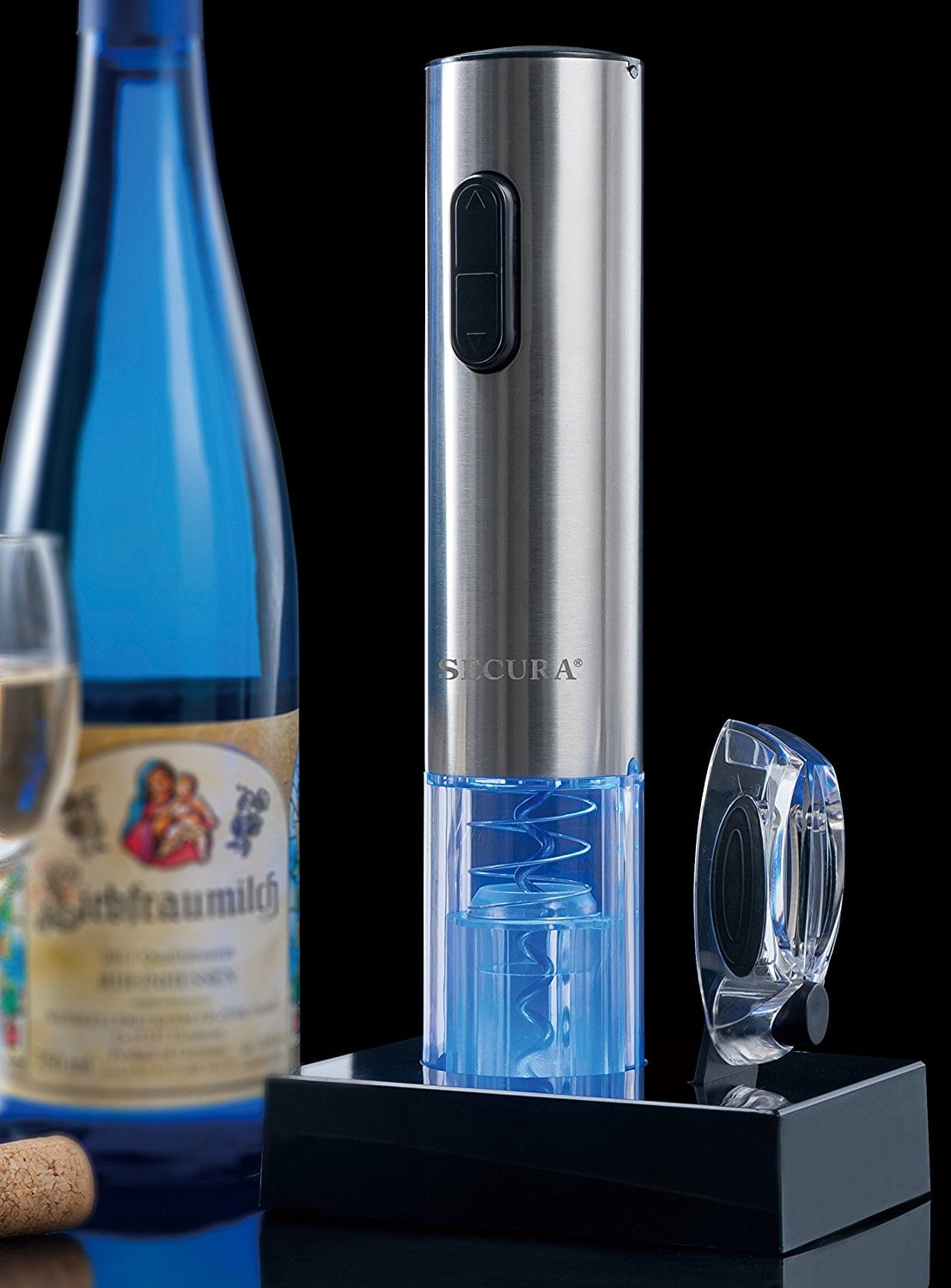 Secura Stainless Steel Electric Wine Opener gifts for realtors
