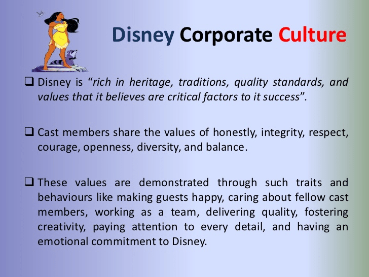Disney Corporate Culture Cast-Core Values-Tips from Pros
