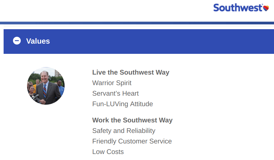 Southwest-Core Values-Tips from Pros