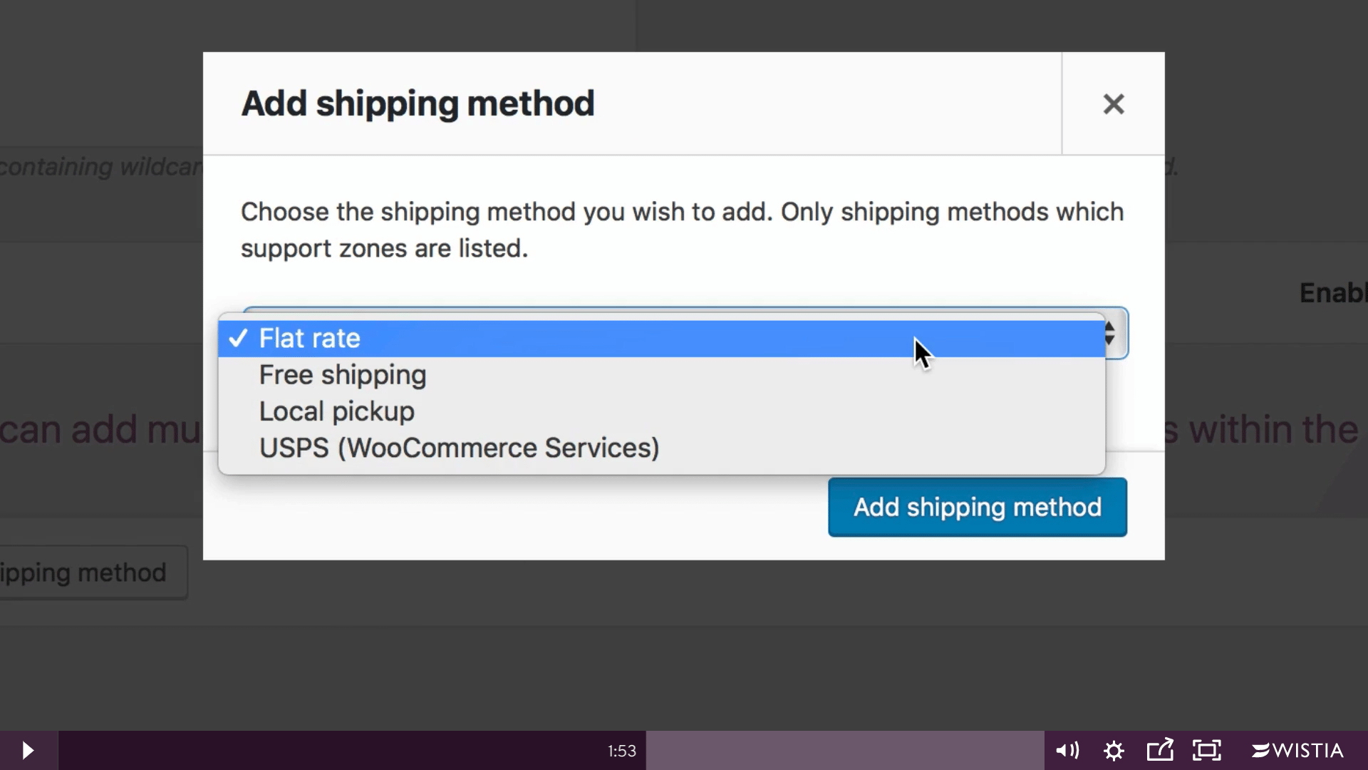 woocommerce shipping - Shipping Methods popup