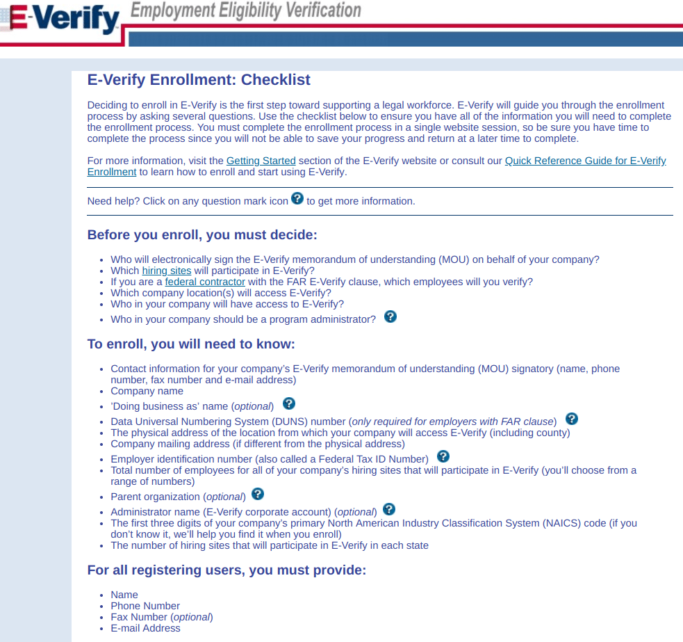 i-9 form E-Verify checklist for employers