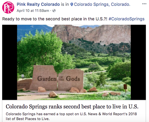 Pink Realty Colorado - Real Estate Facebook Posts - Tips from the pros