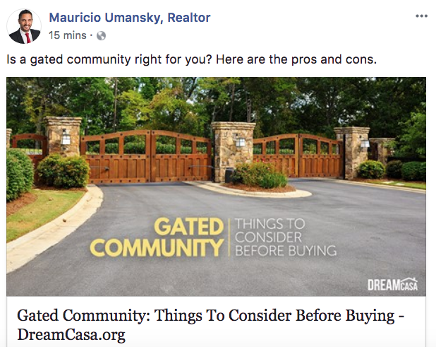 Mauricio Umansky - Real Estate Facebook Posts - Tips from the pros