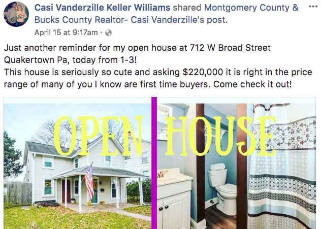 Casi Vanderzille - Real Estate Facebook Posts - Tips from the pros