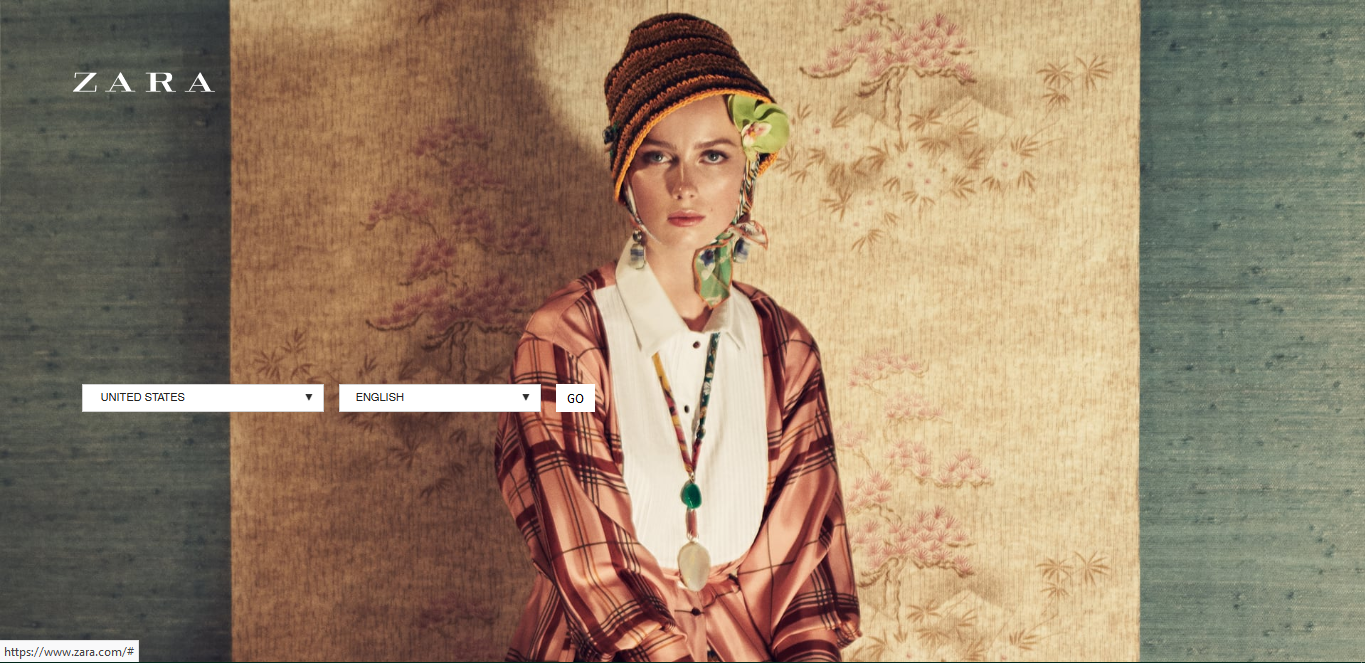 Zara - splash page examples - Tips from the pros