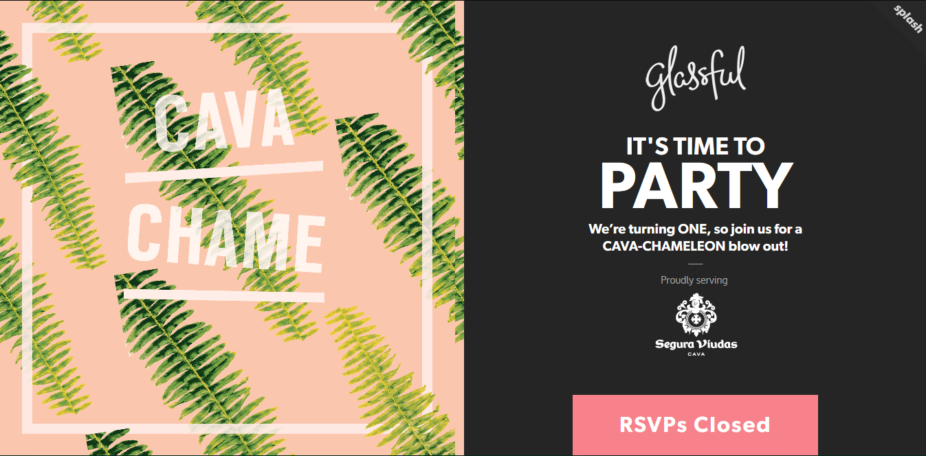Splash That Event RSVP - splash page examples - Tips from the pros