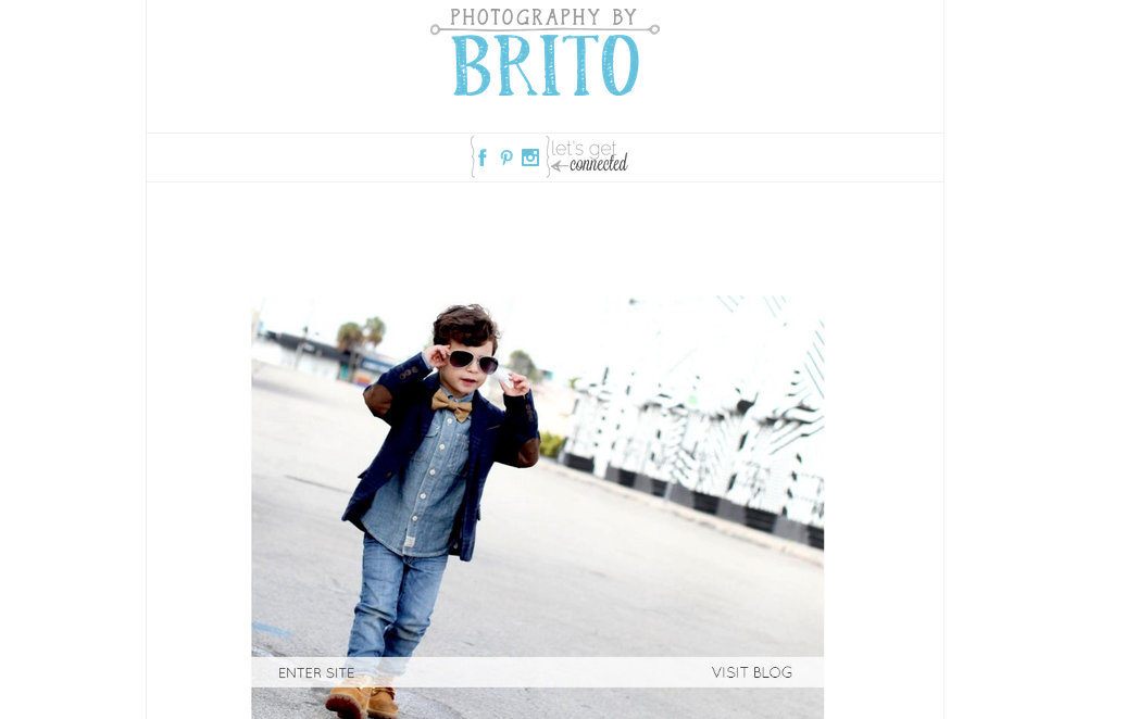 Photography by Brito - splash page examples - Tips from the pros