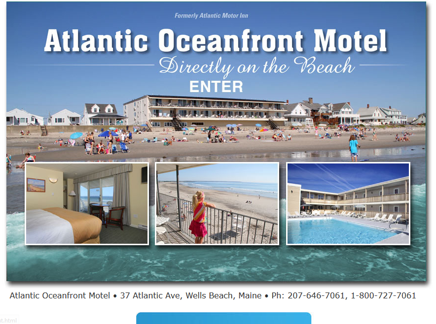 Atlantic Motor Inn - splash page examples - Tips from the pros