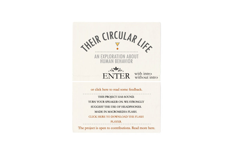 The Circular Life - splash page examples - Tips from the pros