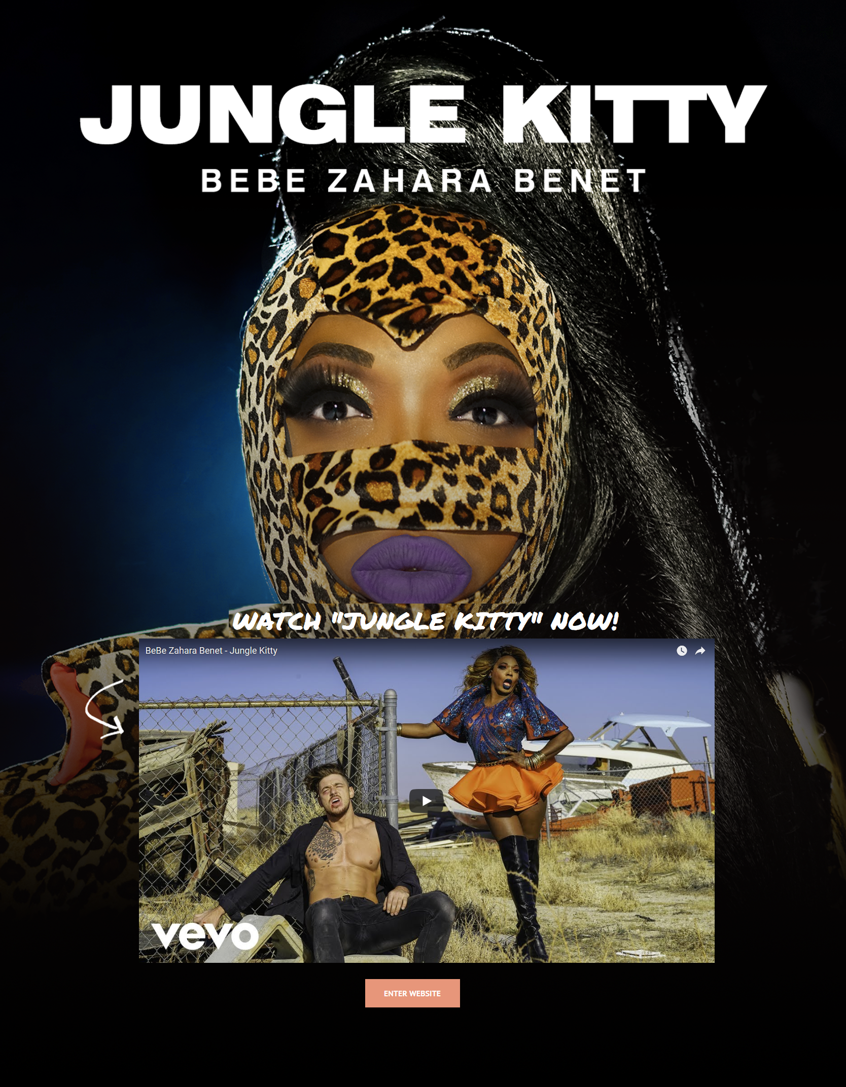 Bebe Zahara Benet - splash page examples - Tips from the pros