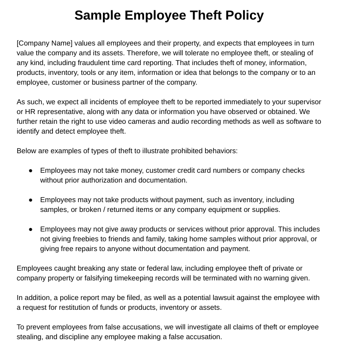 Employee theft types why it occurs 7 steps to prevent it united states businesses lose an average of 7 percent of their annual revenues to employee theft each year according to statistics from statistic brain colourmoves
