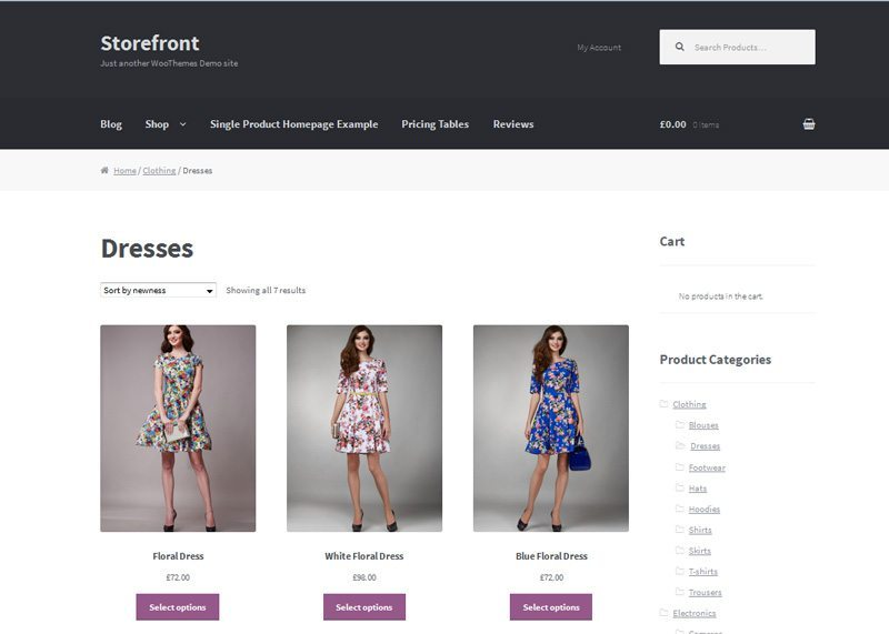 WooCommerce pricing -- free Storefront theme from WooCommerce