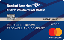 Bank of America Business Advantage Travel best business credit card for travel