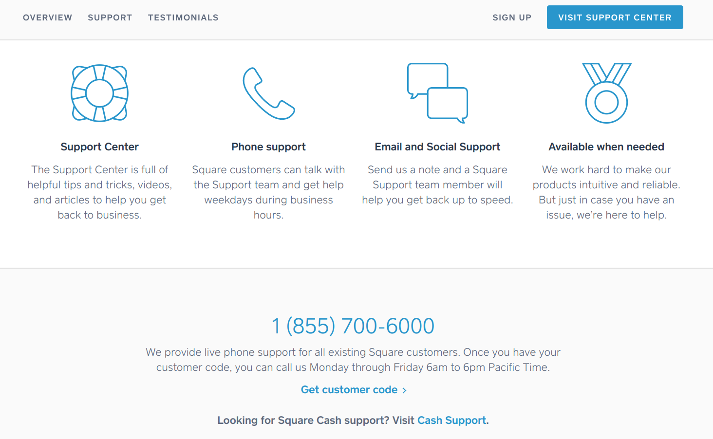 Cash register for small business - Square customer support