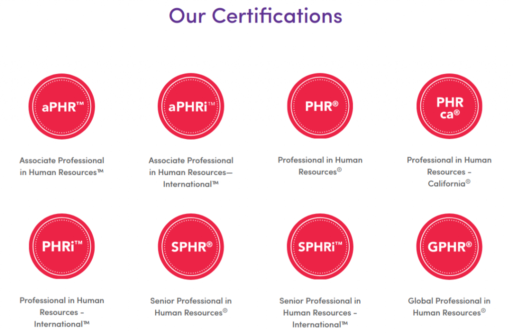 hr Training providers - HRCI Certifications
