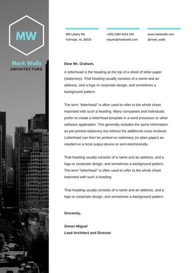 Architecture and Construction Design Letterhead