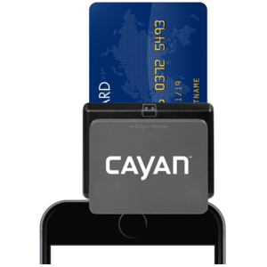 Cayan's chip and magstripe credit card reader - best credit card reader for high-volume sellers