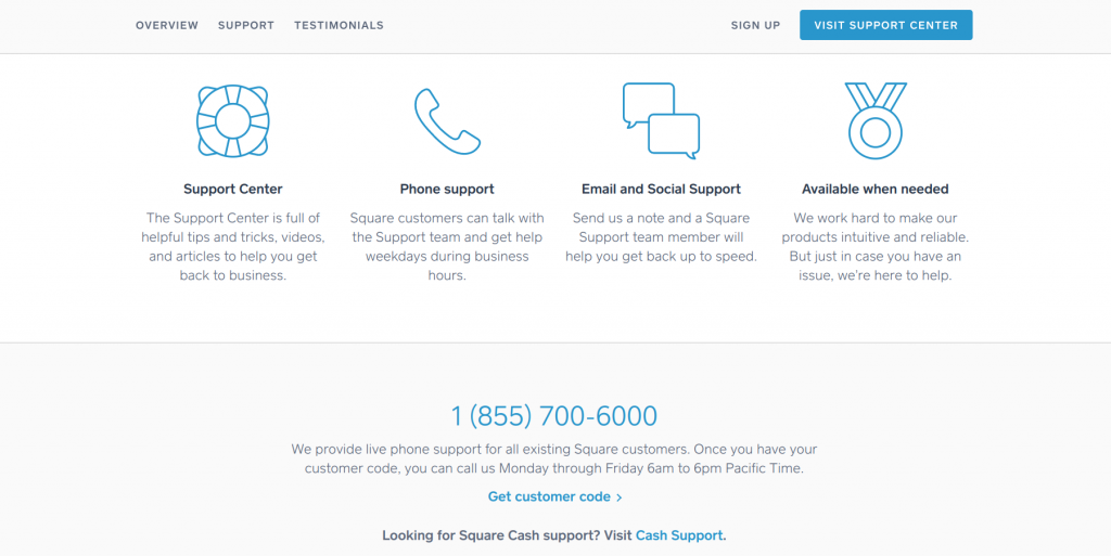 Square Customer Support - best credit card reader overall